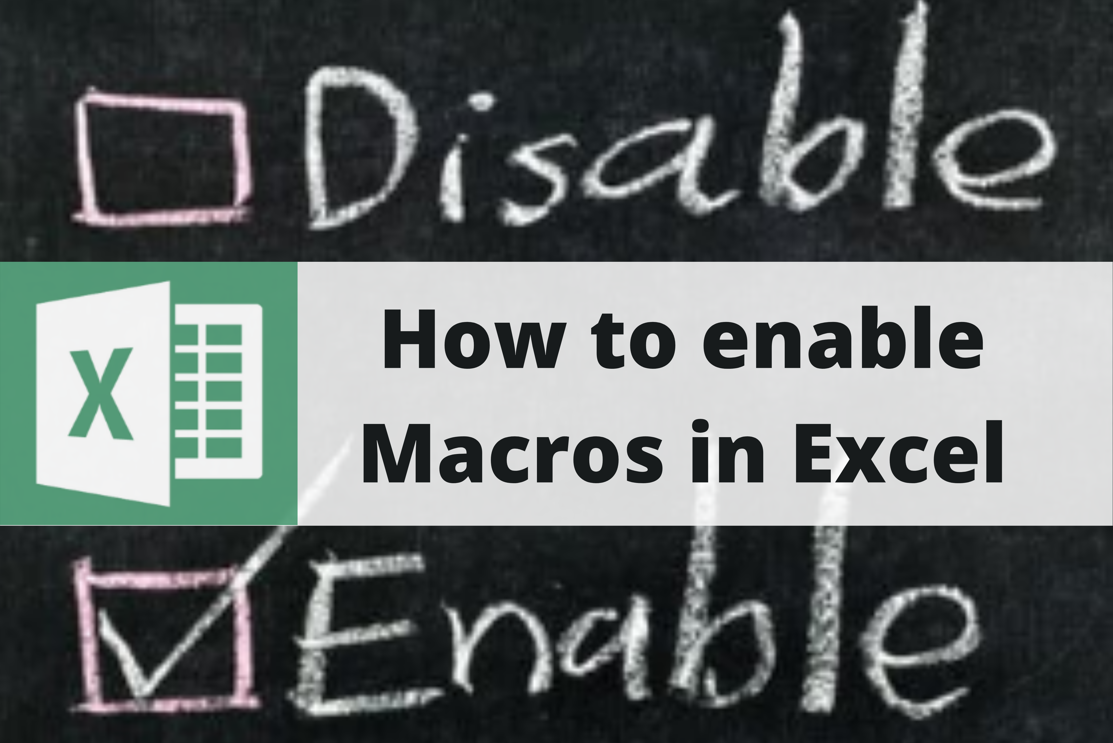 How to Enable Macros in Microsoft Excel