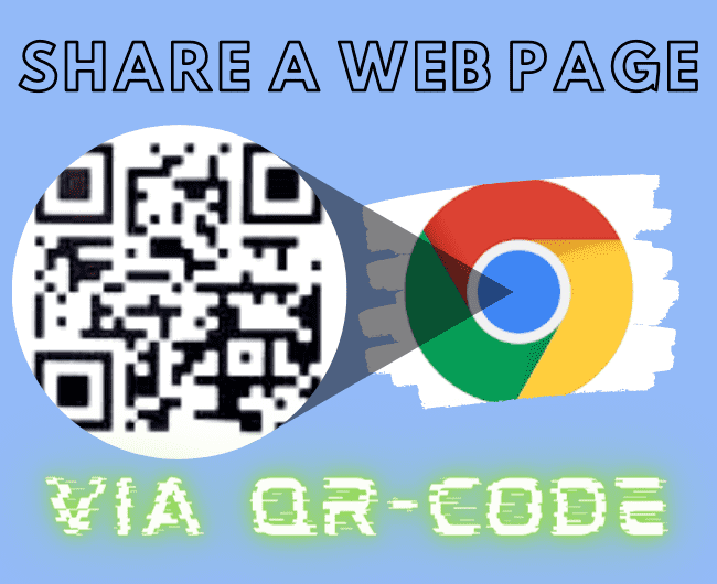 Google Chrome allows you to Share QR-Code on Android and Desktop.