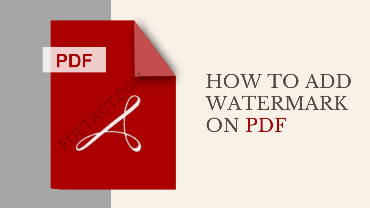 How to Add Watermark on a PDF files
