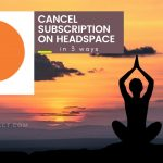 cancel the subscription of headspace-foftact
