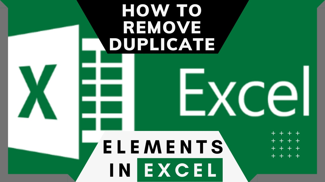 How to Remove Duplicate Elements in MS Excel?