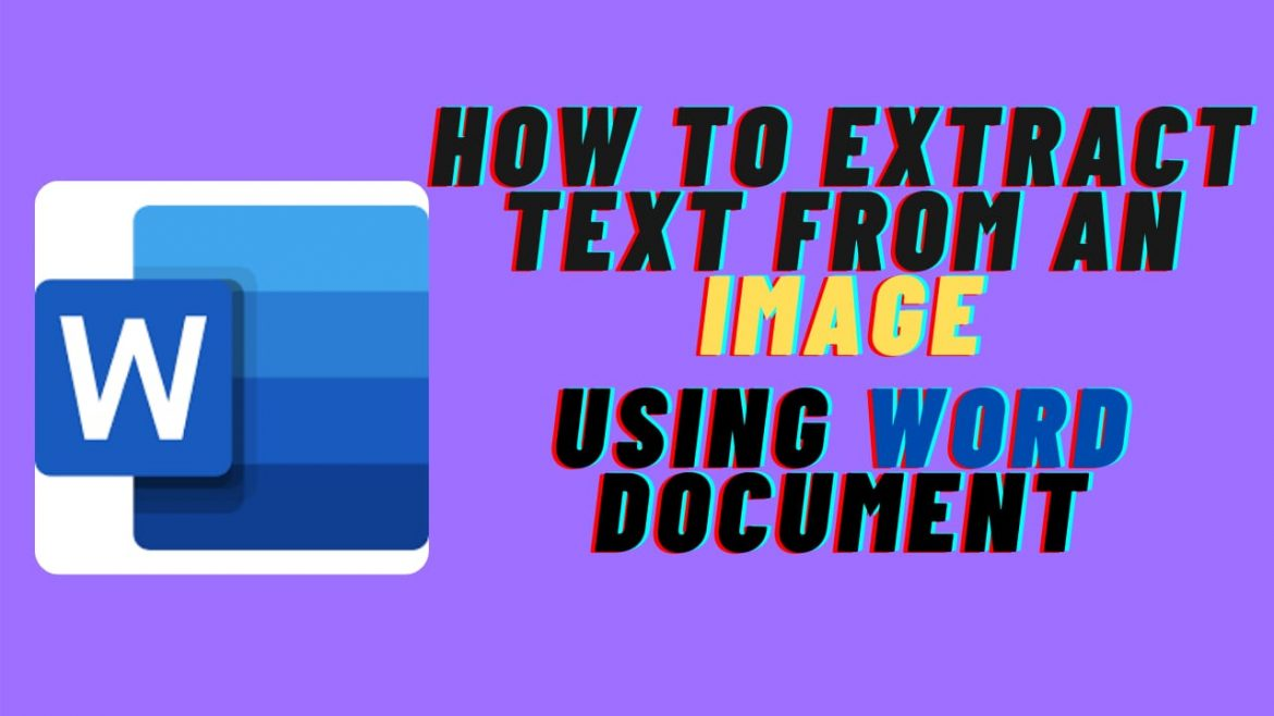 How to Extract Text From Image Using Word Document?