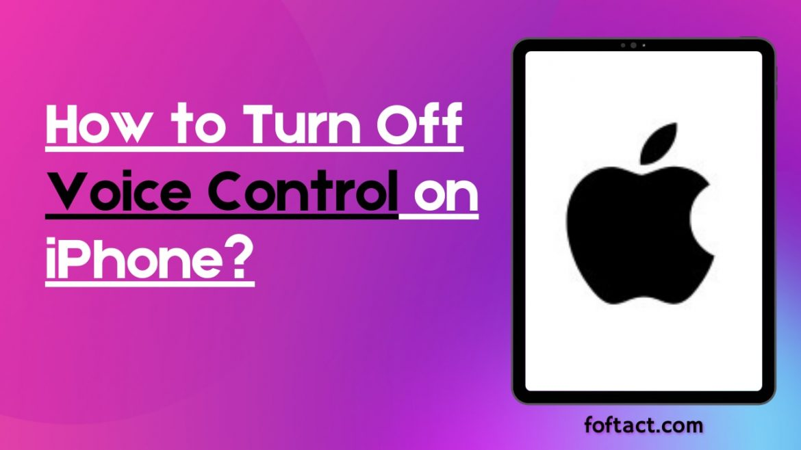How to Turn Off Voice Control on iPhone?